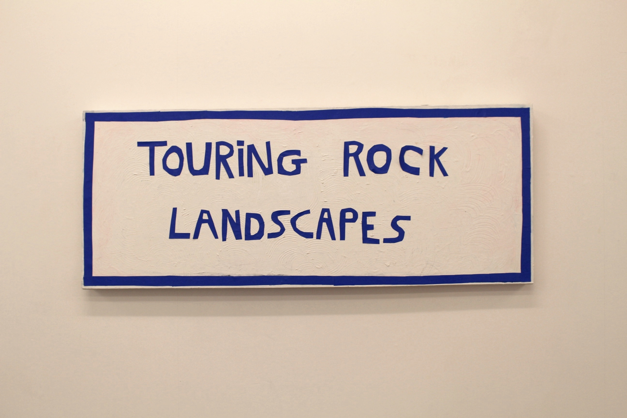 Touring Rock Landscapes, acrylic, paper cut outs on canvas 2016