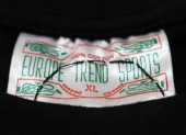 Hand stitched label