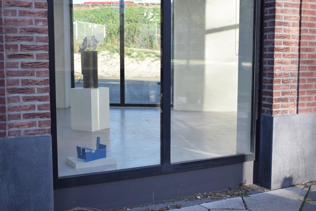 Rehearsal Space, card, tape, digital print, bricks, 20 x 15 x 40, 2018